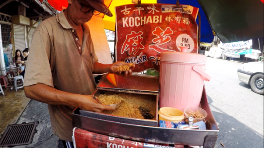 Stall selling really delicious Muah Chee, near the Assam Laksa shop