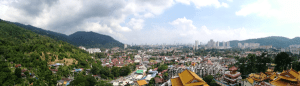Panorama view of Penang from top of Pagoda of Ten Thousand Buddhas
