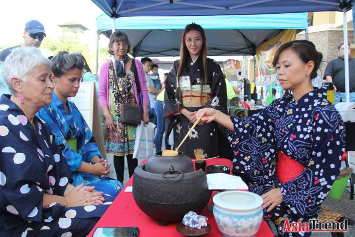 Japanese Tea Ceremony by Orlando J.Club President Teri Mitchell