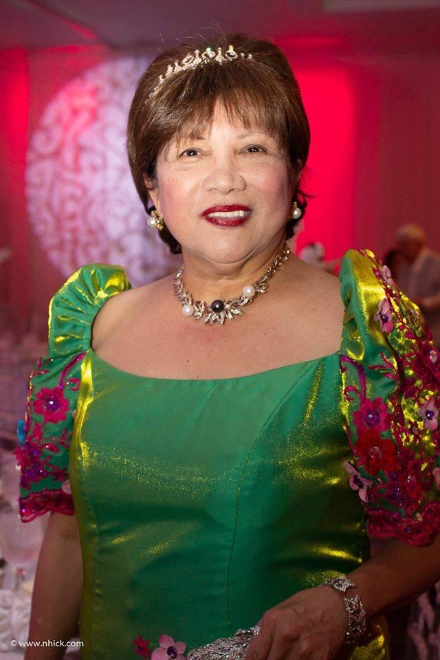 Mrs Lucy Bautista 2018 Sampaguita Ball Chairman