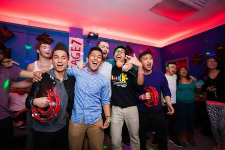 Members of UF's Japanese Club (photo by Wei Van)