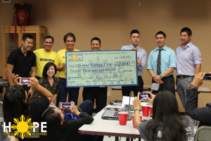 Hope for the Philippines Check presentation to the Gawad Kalinga Foundation