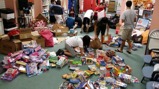 Busy sorting toys at Asia Trend YESS center