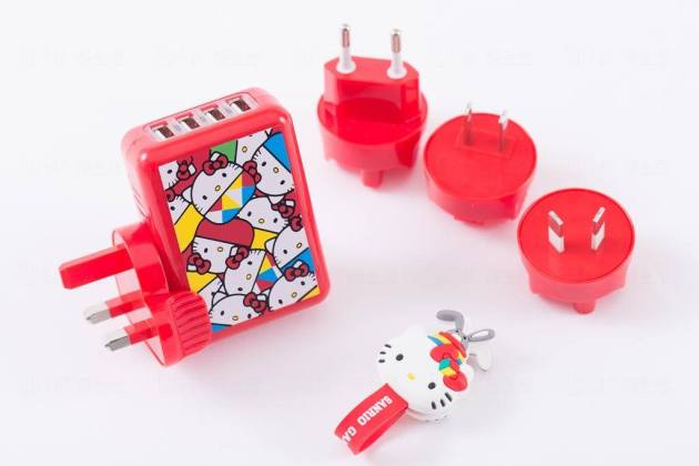 Travel Adapter with Wire Organizer