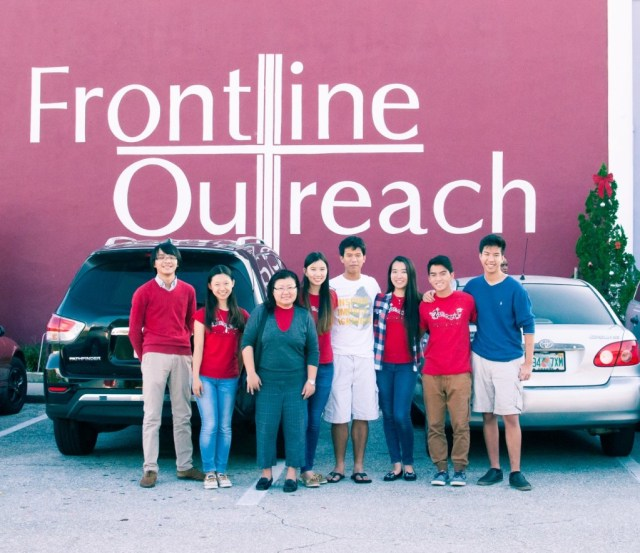 Volunteers at Frontline Outreach