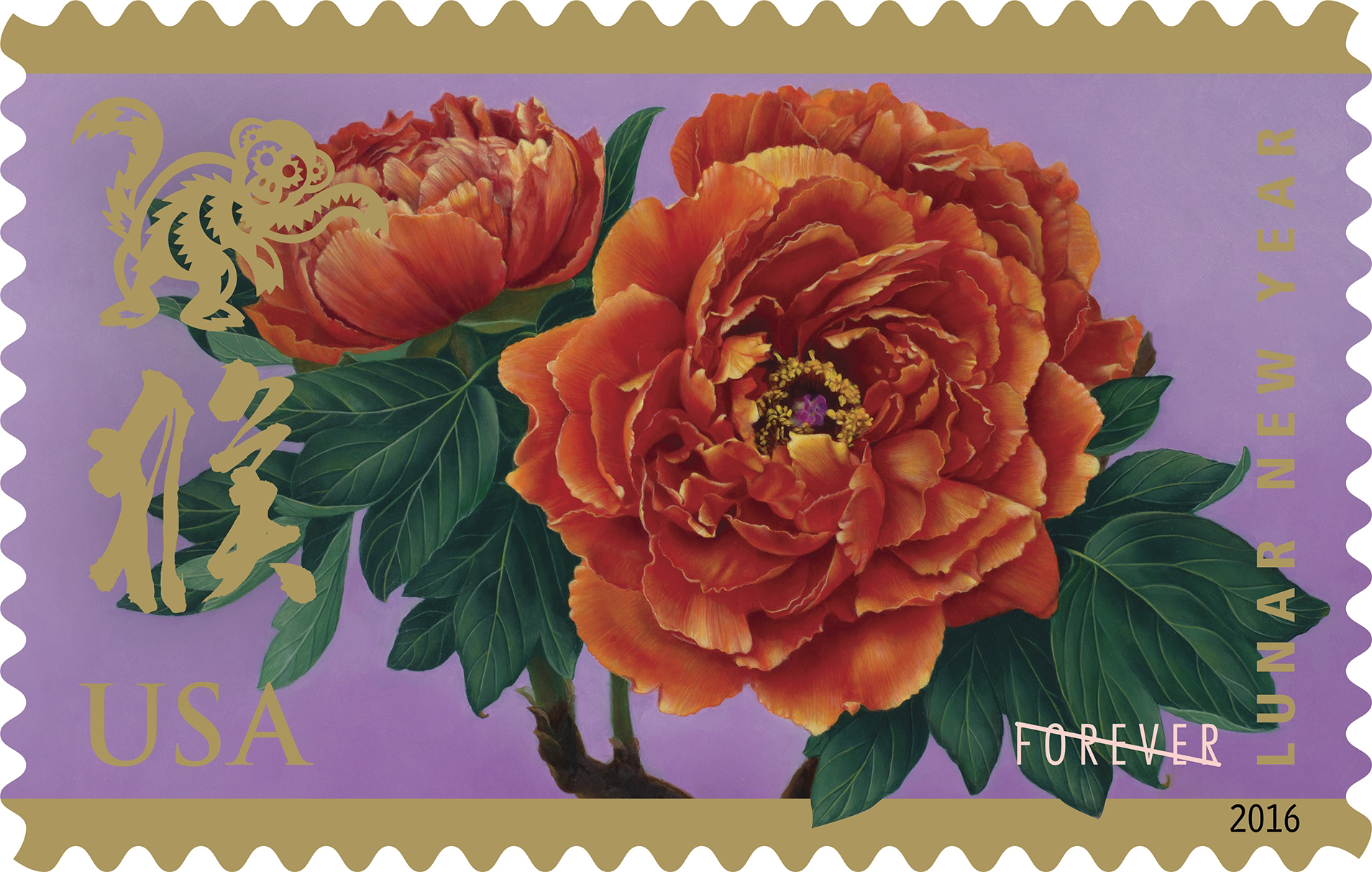 year-of-the-monkey-usps-forever-stamp-2016 - Asia Trend