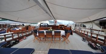 Queen of Datca – Al fresco Dining on deck