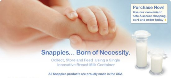 snappies innovatife breastmilk containers