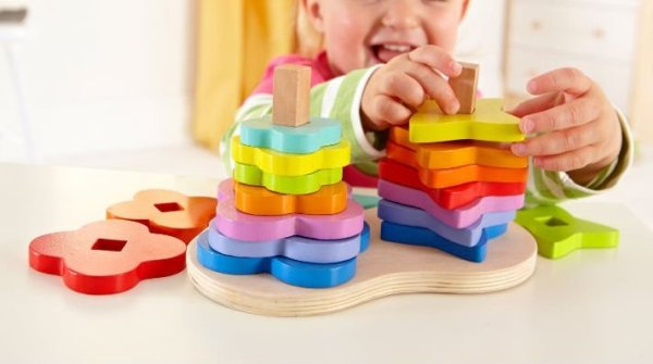 hapetoys double rainbow stacker r1