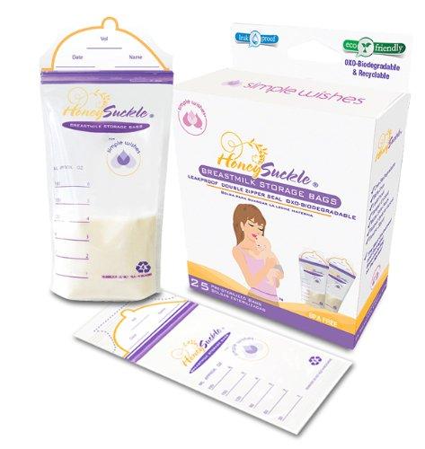 Simple Wishes Honey Suckle Breastmilk Storage Bag