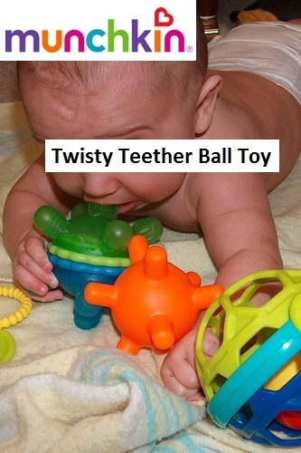 Munchkin Twisty Teether Ball Toy 2