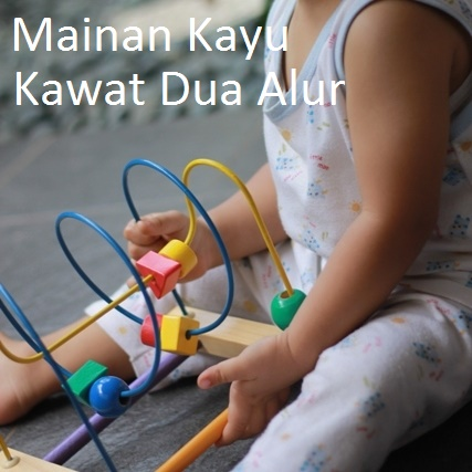 Mainan Kayu Kawat Dua Alur
