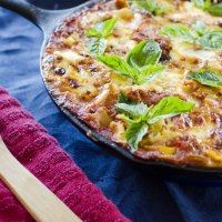 One Pot Skillet Vegetarian Lasagna