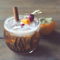 Persimmon Old Fashioned Cocktail
