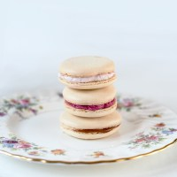 French Macarons with Strawberry & Blackberry Fillings