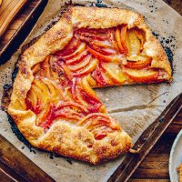 Brown Sugar Peach Galette with Brown Sugar Whipped Cream