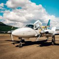 Charter Plane Above Arctic Circle Coldfoot to Fairbanks Alaska
