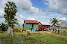 typische Häuser auf Pfählen