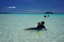 schneeweißer Strand, glasklares Wasser - Whitsunday Islands