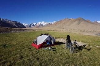 Nachtlager vor dem Ak-Baital Pass auf 4219m Höhe