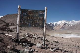 der Höchste dieser Radreise - Ak-Baital Pass, 4655m
