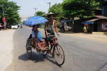Seitenwagen-Fahrradrikscha