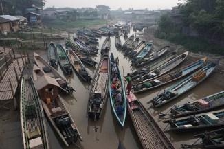 Hafen in Nyaung Shwe am Inle See
