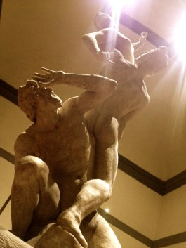 Rape of the Sabine, a fantastic piece of work by Giovanni Bologna