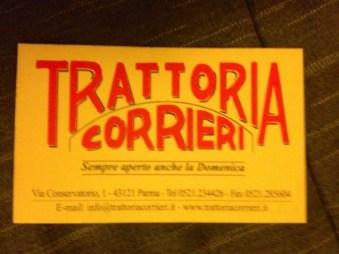 Trattori Corrieri restaurant in Parma