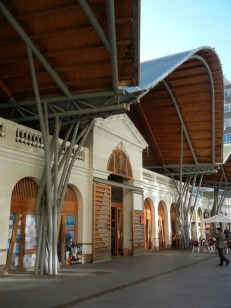 So the designated several public market areas. This modern building sits on the site of an old open market.