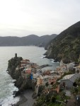 Comgilia is the only one of the Cinque Terre to be up on a cliff rather than going all the way down to sea level.