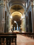 The recent earthquake did some damage to the nave. Restoration work was in process while we visited.