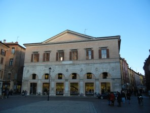 This building on the main piazza is now a bookstore.