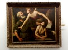 What a lot of the palazzos now hold is not their original furniture but art collections. I thought this piece by Giuseppe Vermiglio was one of the most signally beautiful paintings I've ever beheld although the topic of the sacrifice of Issac is a tough one for me.