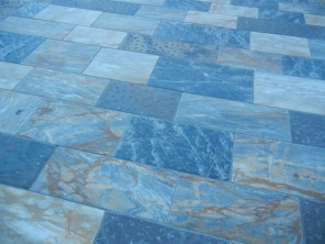 Even the sidewalks are stunning marble.