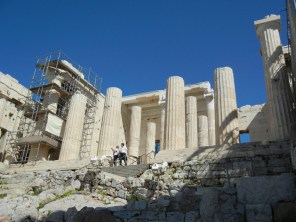 The approach to the Acropolis is monumental. I'm sure it was always meant to humble and even intimidate and it still does.