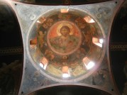 The obligatory Christ looking down from the dome. This was consistent in Greek Orthodox churches I visited.