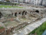 The roman forum is preserved in a park