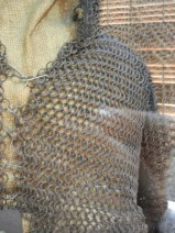 In the nearby anthropology museum - I made chain mail very much like this for my high schools production of macbeth. I bet this suit saw more action though.