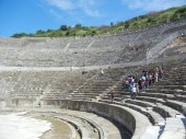 The massive theater - mostly used for drama but not immune to the occasional violent spectacle.