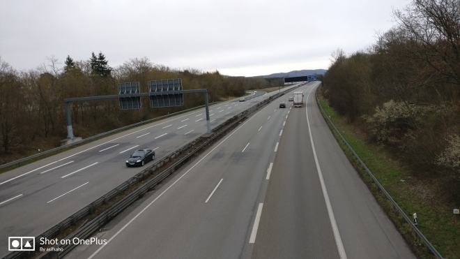 Famous autobahn, wide clean and smooth.