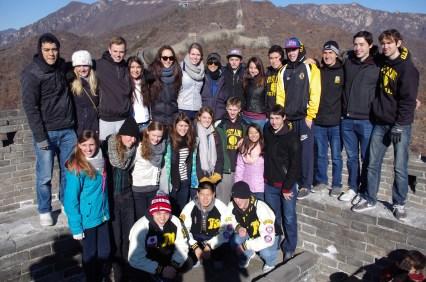 Basketball teams at the Great Wall