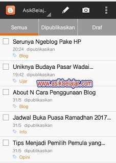 Serunya Ngeblog Pake HP Membuat Postingan Baru
