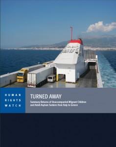 Couverture du rapport de Human Rights Watch sur l'Italie