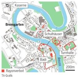 Carte publiée par le Tages Anzeiger