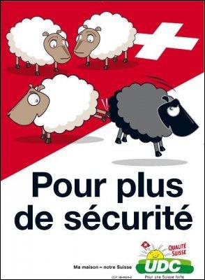 Affiche de l'UDC en faveur de l'initiative «Pour le renvoi des étrangers criminels»