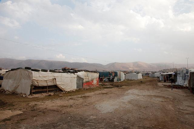 An 'informal tented settlement' in Lebanon's Bekaa valley. Photo: DFID - UK Department for International Development / flickr