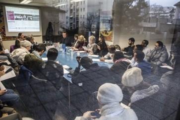 Une rencontre informative des partenaires et candidats a eu lieu au Centre social protestant (CSP) de Genève en février. Photo: Alberto Campi