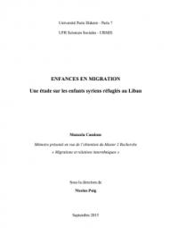Memoire_EnfancesEnMigration