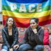 """Lisette (at left) and Natalia, at the office of """"Asile LGBT"""" in Geneva ; Natalia and Lisette, from Colombia, had to leave their friends & families overnight due to their engagement for LGBTI rights. They arrived in Switzerland in 2016. Now living in Geneva, they notably received support from the local project """"Asile LGBT"""" that supports asylum seekers and refugees from sexual minorities."""